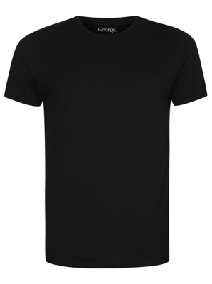 Black Crew Neck Slim Fit T-shirt