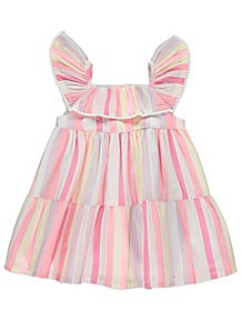 b518b93ce05 Candy Stripe Tiered Frill Dress
