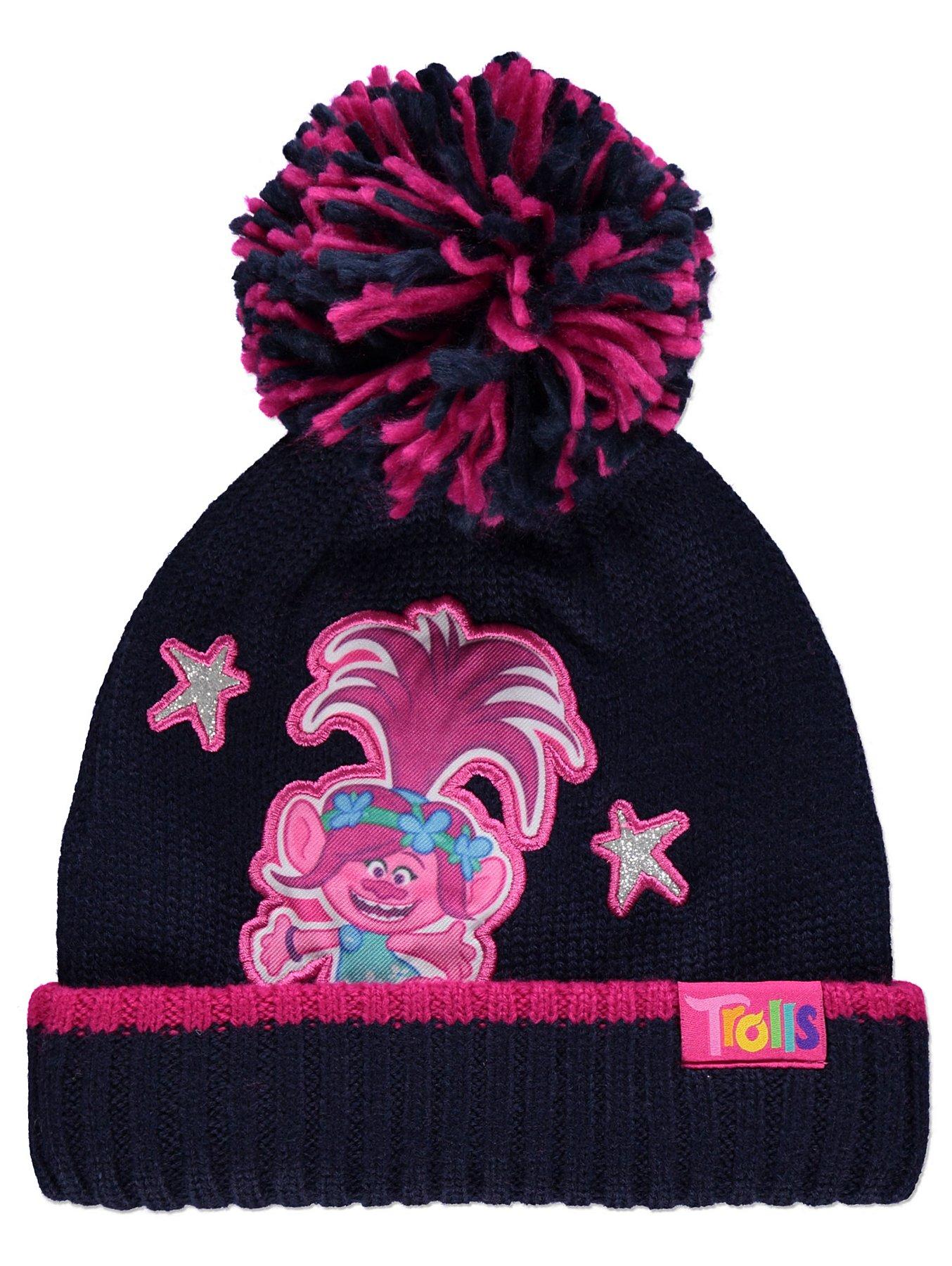 designer fashion dbeb2 6c1e0 Trolls Princess Poppy Navy Bobble Hat