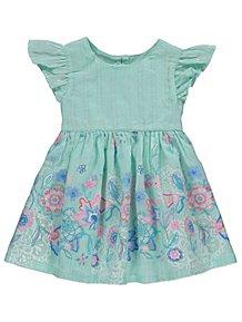 1894dcbd23 Mint Green Floral Printed Dress