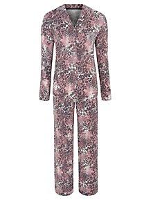 ff959c59383a Purple Leopard Print Shirt Pyjamas