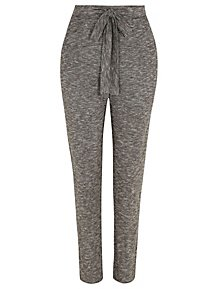 dae3cfd793 Marl Charcoal Faux-Sueded Jogger Trousers