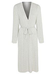 10a1d67d1f Grey Stripe Jersey Wrap Dressing Gown