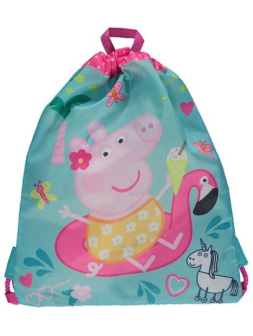 Peppa Pig Turquoise Flamingo Graphic Swim Bag