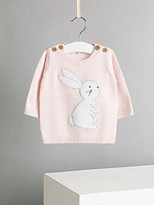 7ad3d26381c10 Billie Faiers Pink Bunny Rabbit Lightweight Jumper