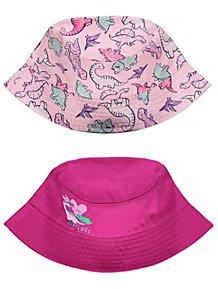 Pink Dinosaur Print Bucket Hats 2 Pack 57f4140b32a