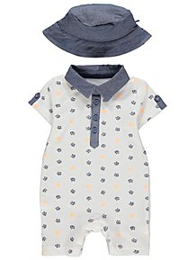 082077d69213 Boys Baby All in Ones | Baby Onesies | George at ASDA