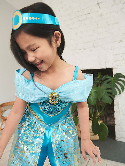212d68175848 Disney Princess Jasmine Teal Jumpsuit Fancy Dress Costume | Kids ...