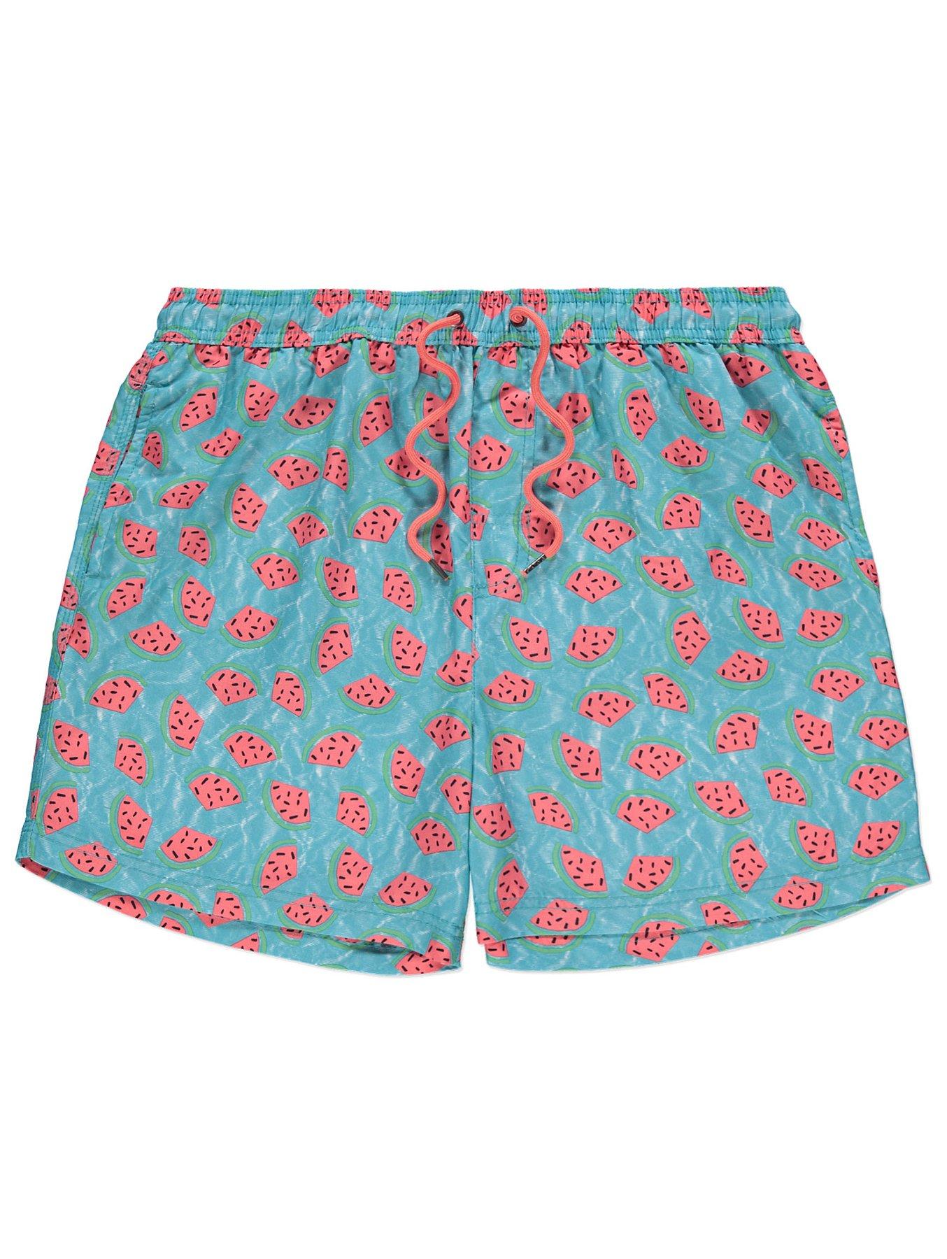 3c949d81c07fc Blue Watermelon Print Swim Shorts | Men | George