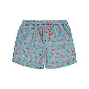 Blue Watermelon Print Swim Shorts
