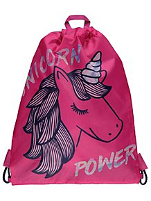 b64a63b1ac Pink Unicorn Power Slogan Swim Bag