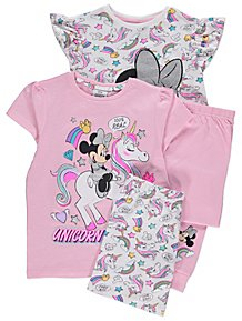 Disney Minnie Mouse Unicorn Pyjamas 2 Pack 09b9742dc
