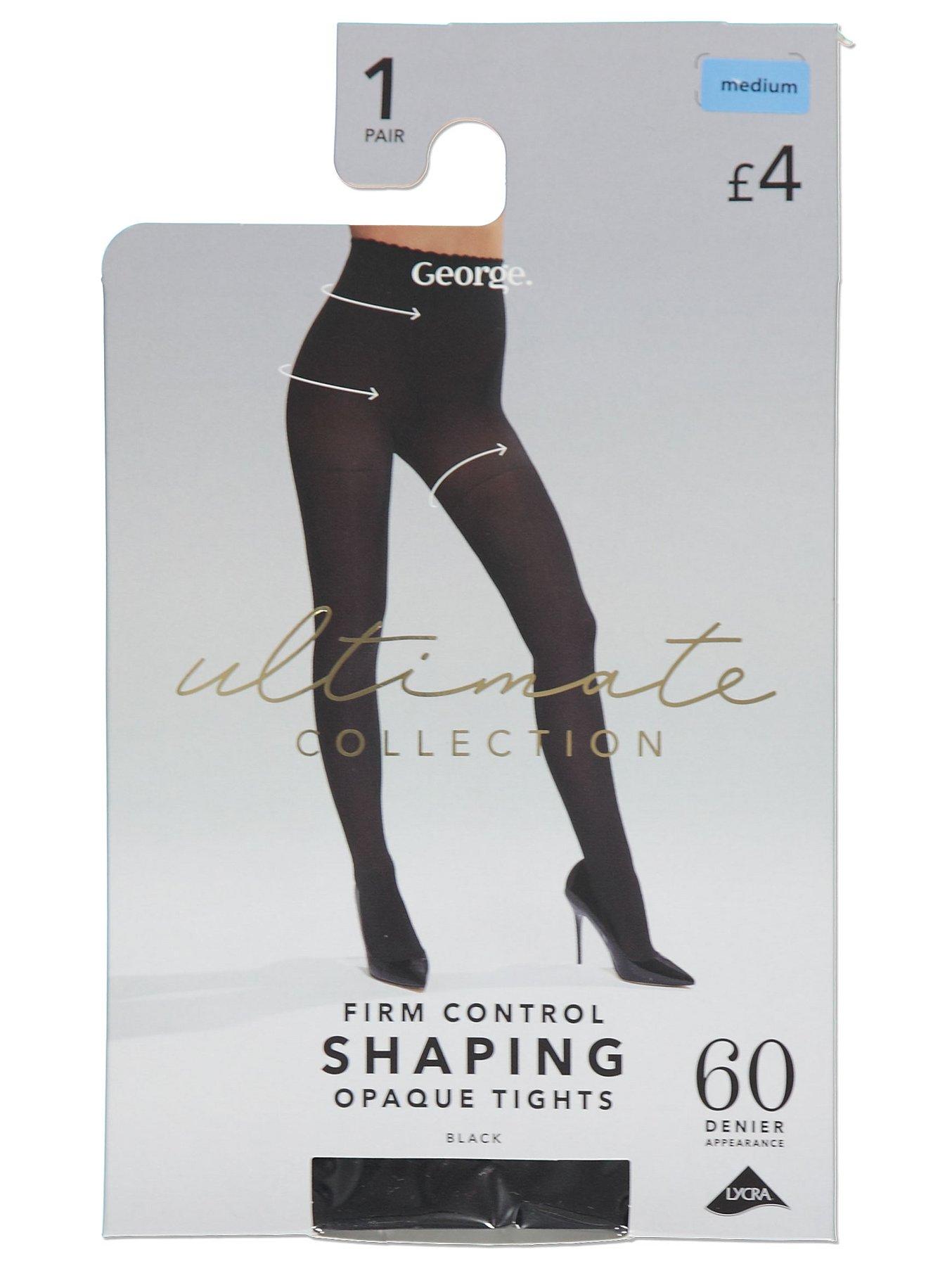 d3e988ec56587 Black Bodysculpt 60 Denier Shaping Opaque Tights   Women   George