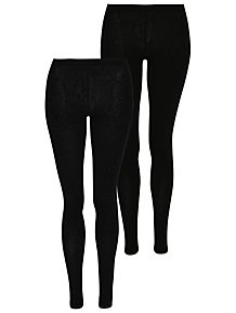 40de2017f81066 Black 2 Pack Full Length Leggings