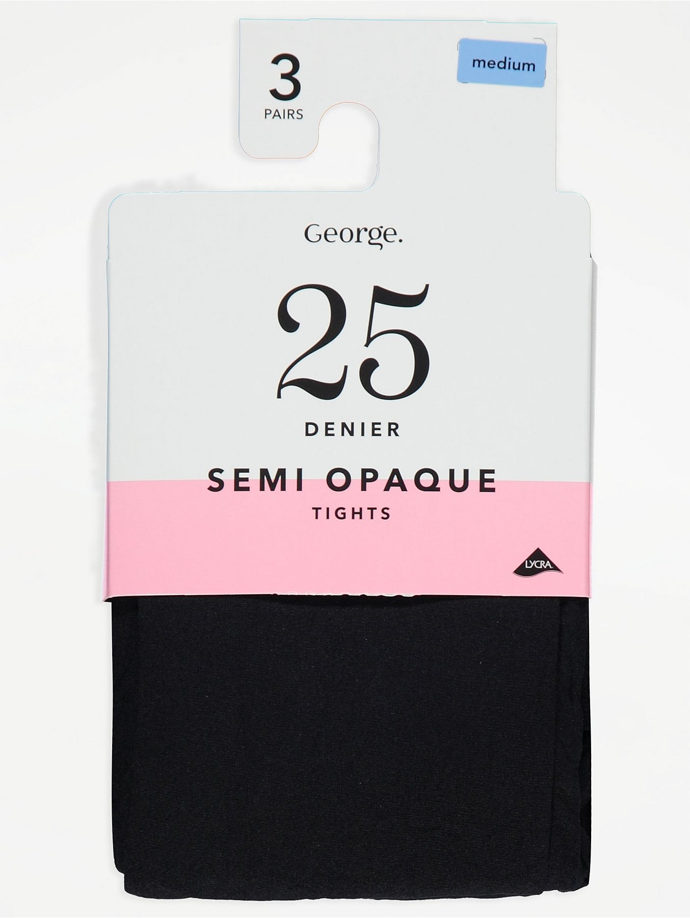 b3e0b824aa6 Black Semi Opaque 25 Denier Tights 3 Pack. Reset