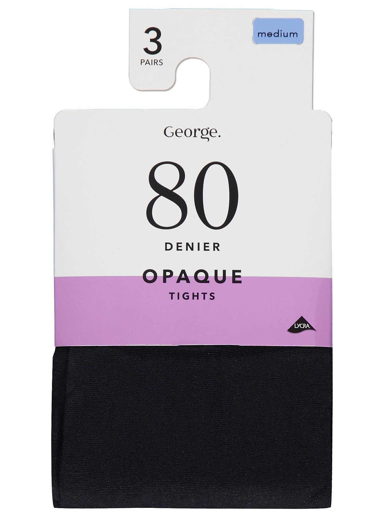 shop for newest search for newest buy best Black 80 Denier Opaque Tights 3 Pack