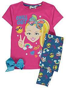JoJo Siwa Chill Out Pink Pyjamas and Bow Set b5228f373
