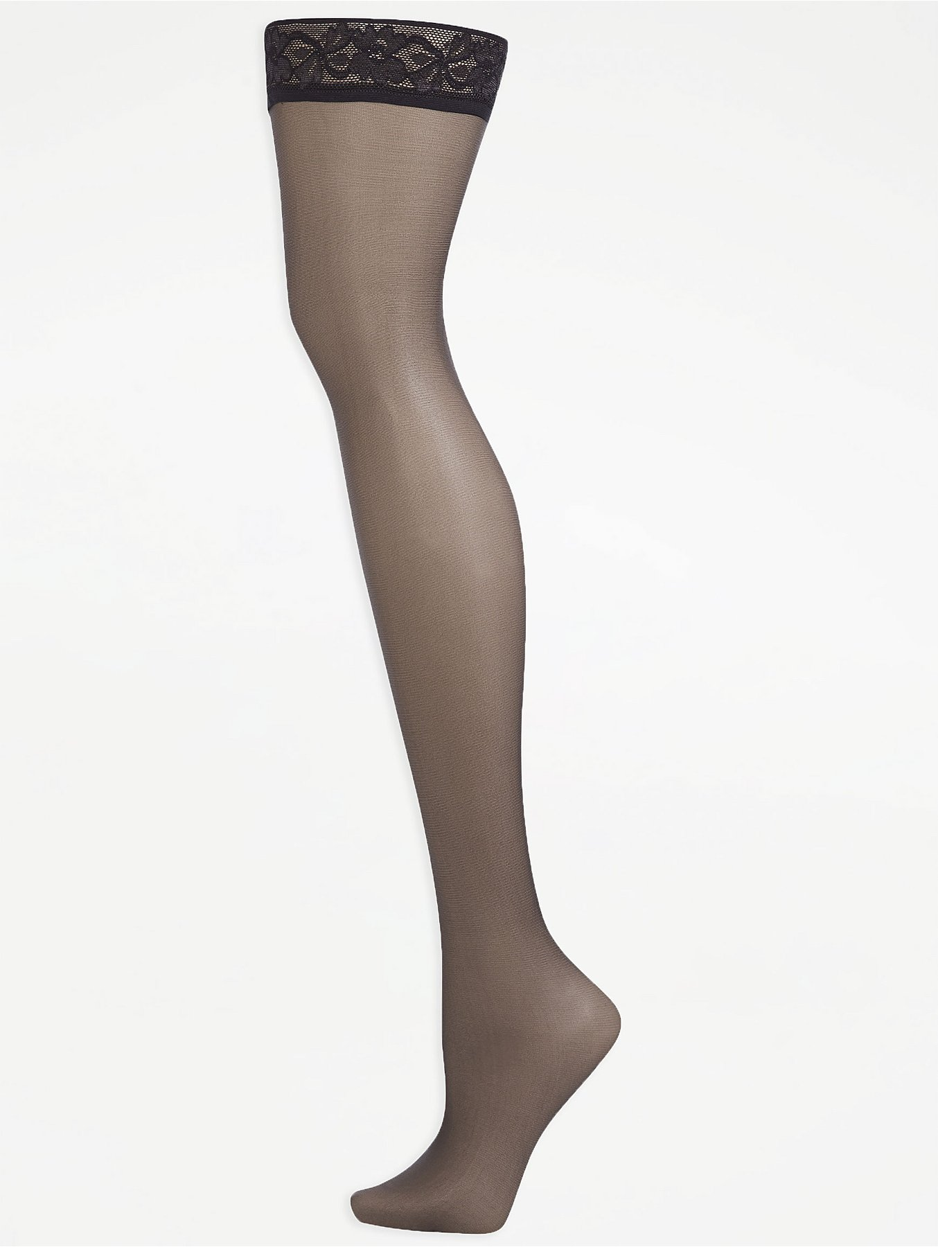 504d9cdacd6 Barely Black 10 Denier Sheen Hold Up Tights 2 Pack