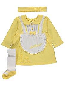 606f7b9c Yellow Goldilocks Dress, Headband and Tights Outfit