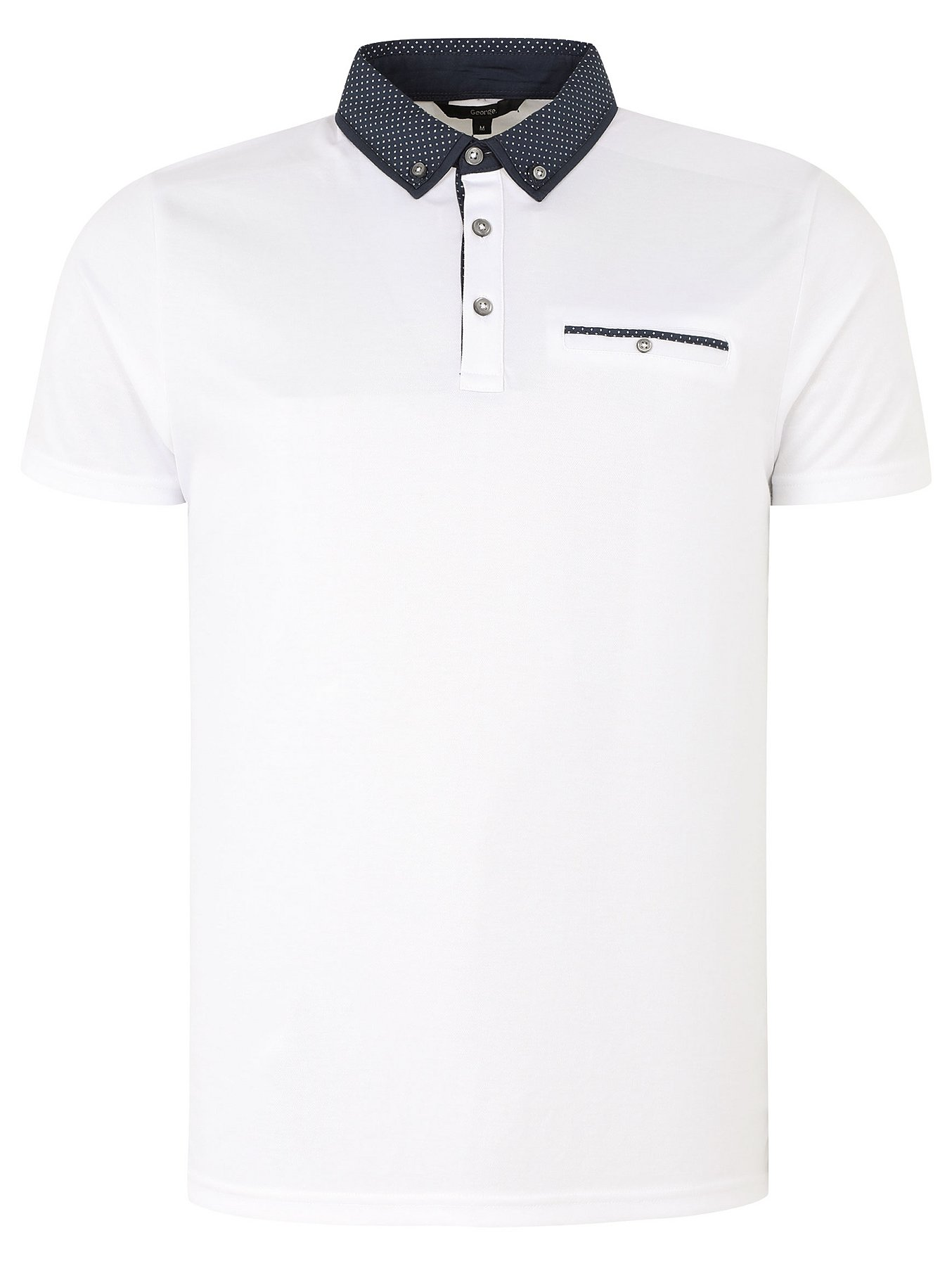 ff7894d6 White Smart Contrasting Collar Polo Shirt | Men | George