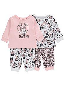 b9450e999f9a Disney Minnie Mouse Pink Pyjamas 2 Pack
