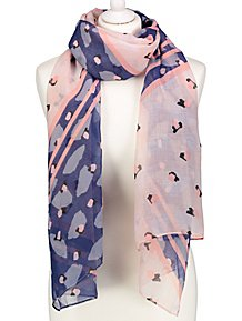 e199082d3eb03 Pink Patterned Scarf