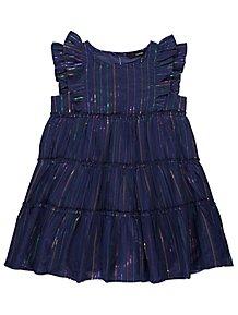 315da6c1476 Navy Frill Rainbow Striped Tiered Dress. From £10