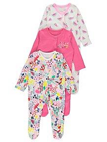 796bcc3d6 Baby Girls Sleepsuits & Pyjamas | George at ASDA
