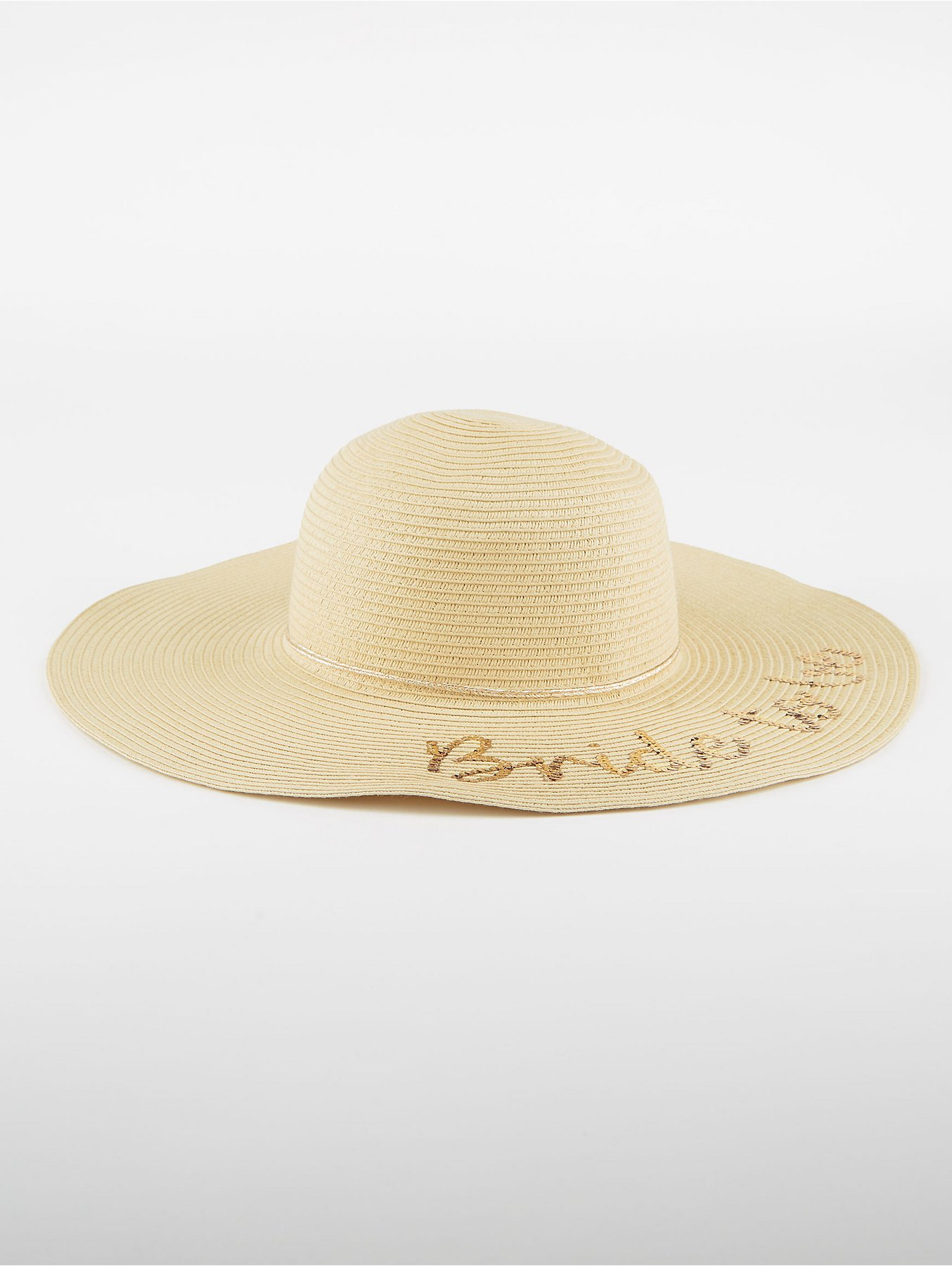 0b9573bb7b151 Bride to Be Woven Floppy Hat. Reset