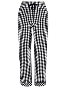25a73a5520 Navy Woven Gingham Check Pyjama Bottoms
