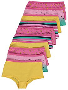 d0e07a9263e98 Assorted Fruit Print Shorts 10 Pack
