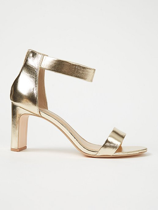 a1cab0d34ac Gold Heeled Sandals