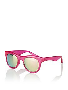 cd99fd400b Pink Glittery Mirrored Sunglasses