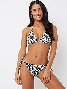 dcd9f74ffc Black Animal Print Triangle Bikini Top