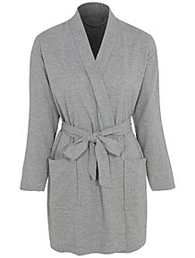 600885745c Grey Waffle Textured Dressing Gown