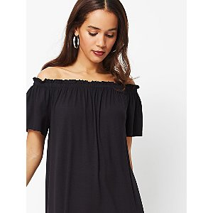 Black Bardot Jersey Dress