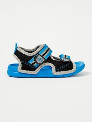 Blue Mesh 2 Strap Sandals