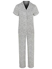 893e9cd4b4 Post Surgery Grey Star Print Button Through Pyjamas