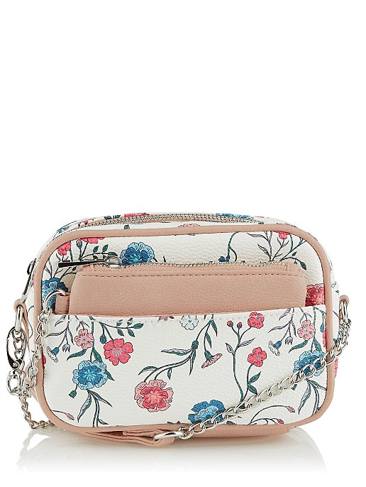 bca0ede11892 White Floral Cross-Body Bag and Coin Purse. Reset