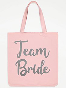 b48f4f47bebc Pink Team Bride Canvas Tote Bag