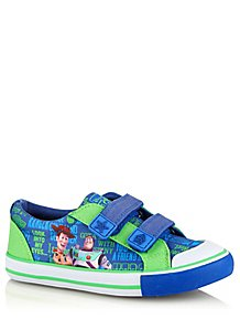 19261a0761cb Disney Toy Story Blue Slogan 2 Strap Trainers