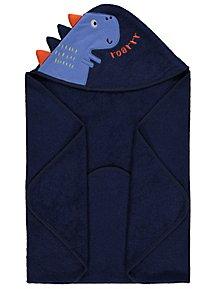 0d43fafbdb2 Navy Dinosaur Hooded Towel