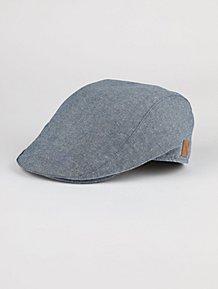 08cc88bfad4 Blue Woven Flat Cap