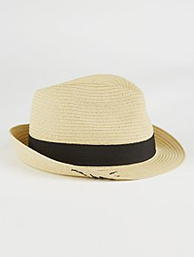 b90916d325222 Embroidered Mr Woven Trilby Hat