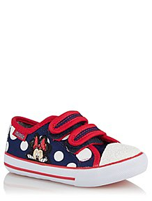6444bb37285 Disney Minnie Mouse Navy 2 Strap Trainers