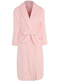 94d6ac7232 Pink Textured Rose Fleece Dressing Gown