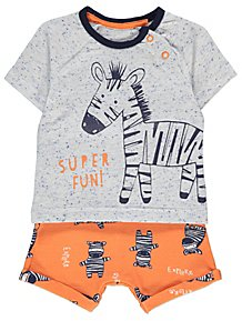 e77859bed Orange Zebra T-Shirt and Shorts Outfit