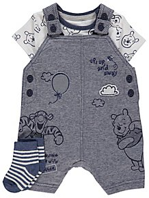 5c7e2b3b1 Disney Winnie the Pooh Dungarees Bodysuit and Socks Outfit