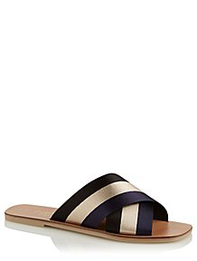 92809bdda Black Cross Strap Mule Sandals