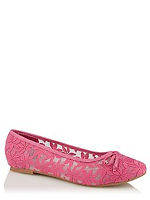 6a50f016b0a Pink Floral Embroidered Ballet Shoes